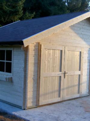Garage in hout, maatwerk