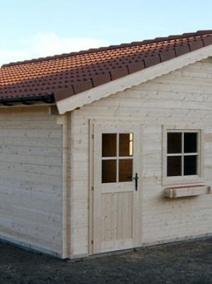 Garage in hout met zadeldak