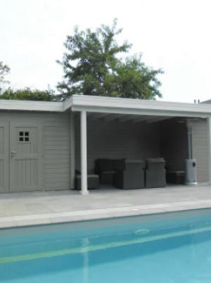 Poolhouse modern strak