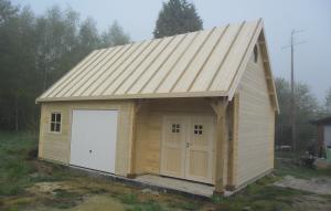 garage klaar voor eigen dakbedekking te Lommel
