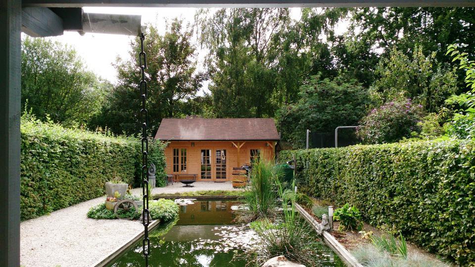 tuinhuis zadeldak in vele maten verkrijgbaar