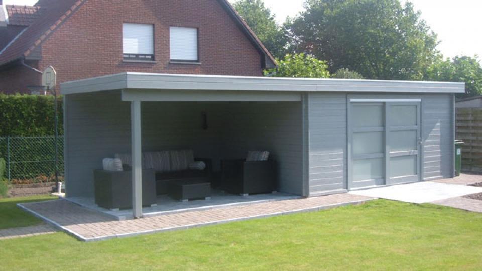 Modern garden special - Overdekt terras in hout ...